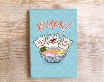 Ramen Cats Kitchen Magnet Fun Refrigerator Maneki neko Japan Japenese Food Fridge funny Foods