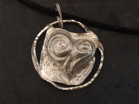 Argentium Sterling Silver Puffed Heart Pendant created with Chasing and Repousse - tarnish free