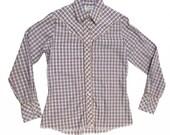 Vintage Wrangler Western Shirt Pearl Snap Womens Small Medium Cowgirl