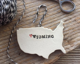 Your State Pottery Ornament - Custom Made