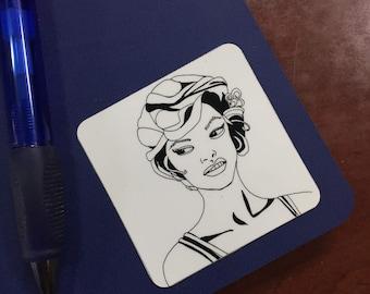 "Routine 2.5"" Sticker - Original Ink Drawing Print"