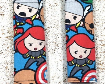 Avengers Seat Belt Covers Baby - infant - car seat strap cover - stroller strap - carrier strap - black widow - geek gift - baby shower gift