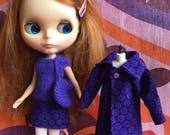 Purple Haze - 4 Piece coats set with coat, skirt, top & bag