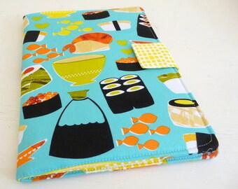 iPad Air 2 Cover, iPad Air Case, Bright Sushi Print Cotton