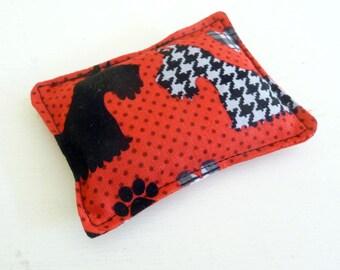 Red and Black Scottie Dog Pincushion