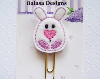 Bunny Easter Egg Planner Clip, Bookmark, Planner Accessory, Paper Clip