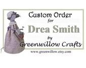 Custom order for Drea Smith - fabric gift card envelopes