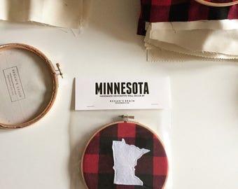 Rustic buffalo check Minnesota hoop