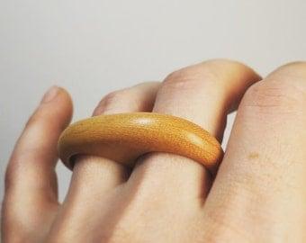 Osage Orange two-finger rounded ring