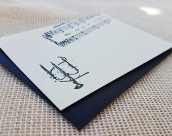 Letterpress Enclosure Card - Candelabra