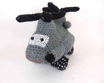 Mh 47 Chinook helicopter ,  Crocheted Amigurumi Military Mh 47 Helicopter , stuffed helicopter toy  (MADE To ORDER)