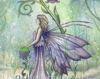 Fairy Art Print - Early Spring - Fine Art Giclee Print by Molly Harrison Fantasy Art 12 x 16