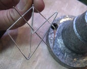For Audra only - custom shape geometric earring, oversized square hoop in 925 silver