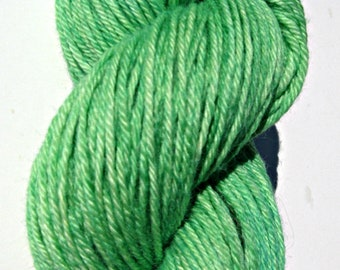 Green Hand dyed Baby Alpaca Yarn, Sport Weight, 3 ply, FREE Shipping