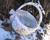 CONFECTION  textile art Basket  Bucket EASTER
