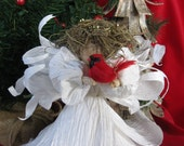 Christmas Angel Tree Topper OOAK