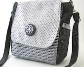 purse backpack converts to crossbody messenger bag, shoulder bag, sling bag, grey handbag, zipper bag, fit Ipad, vegan bag, ready to ship
