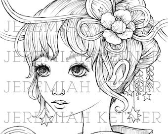 Summer Days - Coloring Page