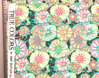 Amy Butler True Colors Daisy Shine Citrus Floral Cotton fabric by the yard