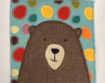 Friendly Bear Natural Onesie, 12-18 Months