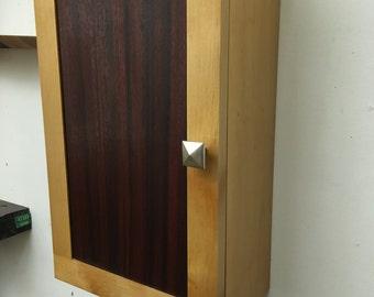Maple and Padauk Hanging Cabinet