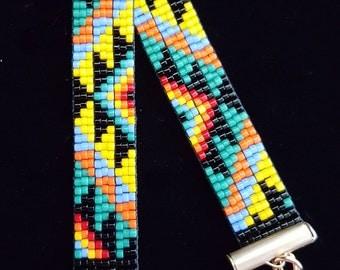 Petite bold colors southwestern pattern bracelet