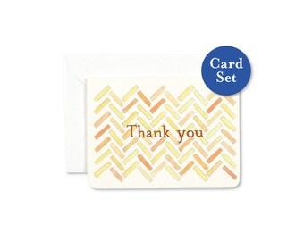 Herringbone Thank You Mini Card Set of 8