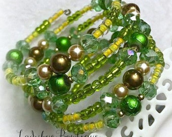 Tiana-inspired Wraparound Bracelet Memory Wire Disney Princess Girl or Adult Princess and the Frog