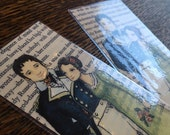 Custom listing for JodiAnn - Two Laminated Jane Austen Bookmarks - Anne Elliot and Captain Wentworth