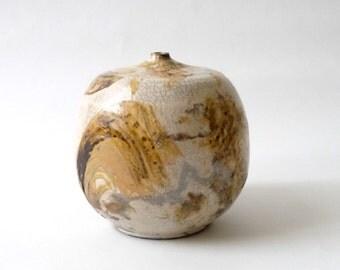 Large Modernist Raku Ceramic Pot by Brad Mcevoy  Weed Pot Mid Century Modern