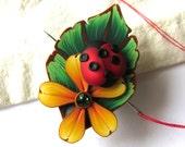 Ladybug Needle Minder, Needle Nanny