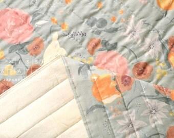 Japanese Fabric Nani Iro Fuccra quilted double gauze - St Moritz - 50cm