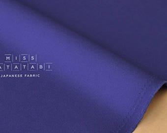 Japanese Fabric Kokochi Solid Canvas - cobalt blue -  50cm