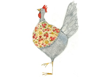 chicken in farmhouse apron