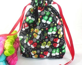 Festive Mittens project bag by AnniePurl