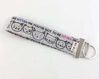 Kitten Me Key Fob For Mew Cat Lover Key Chain, Gift For Cat Lover