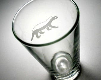 Honey Badger Pint Glass