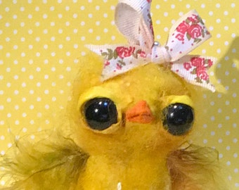 Yellow chick  Ooak   art doll