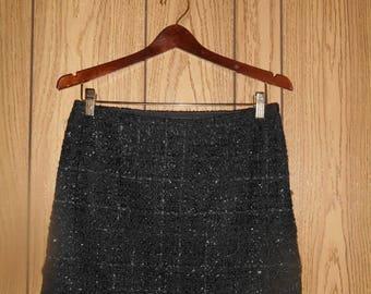 Closing Shop Sale 45% Off Vintage 90s short black shiny sparkle    mini skirt