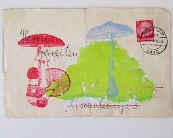 poison pen letter an original mixed media on paper