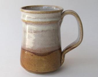 Stoneware Coffee Mug - Caramel Cream Glaze