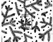 Boughs and Berries Christmas Tree Silk Screen (N31)