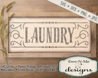 Laundry SVG - Laundry room svg - laundry cut file - rustic laundry design - farmhouse style laundry svg - Commercial Use svg, dxf, png, jpg