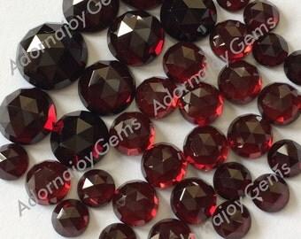 Gemstone Cabochon Garnet 6mm Rose Cut FOR TWO