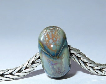 Luccicare Lampwork Bead - Dragon I -  Lined with Sterling Silver