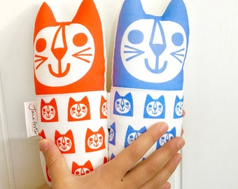 Scandi Toy Cats by Jane Foster - cotton and linen cat fabric