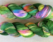 """Luxurious sock yarn 70/30 wool silk blend - """"Enchanted Forest"""" - in stock ready to ship"""