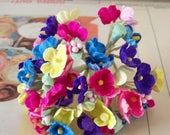Forget Me Nots / Vintage Millinery / Vibrant Spring Colors / One Small Bouquet