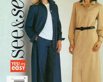 See & Sew 3939 Misses Dress And Pants Uncut Pattern Size 14-16-18 Copyright 2003