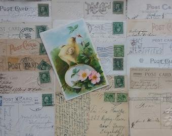 18 Vintage used Postcards 1908